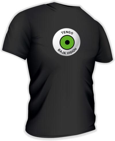 Camiseta con logo grande en castellano