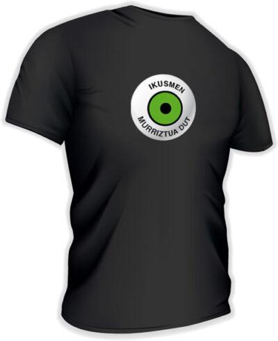 Camiseta con logo grande en euskera