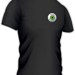 Short- sleeved technical black t-shirt
