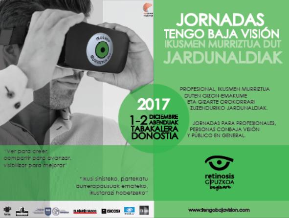 Material de difusión Jornadas Tengo Baja Visión 2017