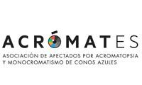 ACRÓMATES – ASOCIACIÓN DE AFECTADOS POR ACROMATOPSIA Y  MONOCROMATISMO DE CONOS AZULES