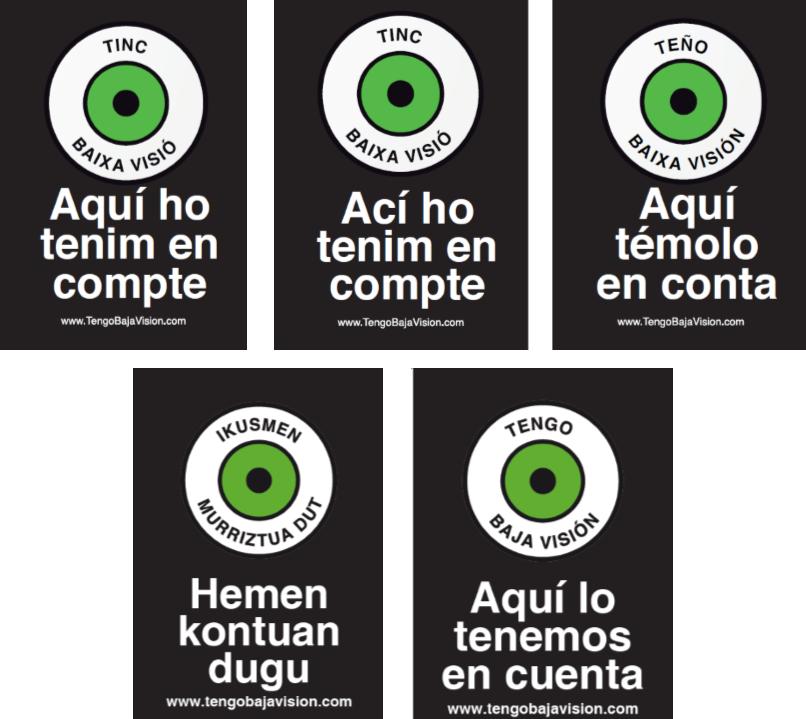 Campaña estatal Tengo Baja Visión – material de difusión en diferentes idiomas