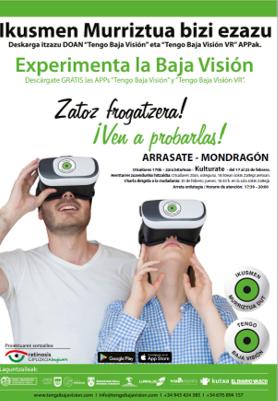 """Hoy Retinosis Gipuzkoa Begisare presentará la exposición interactiva """"Experimenta la Baja Visión"""" que sensibilizará a los arrasatearras sobre cómo ven las personas con baja visión."""