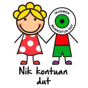 """Chapa """"Nik kontuak dut"""" Modelo 1"""