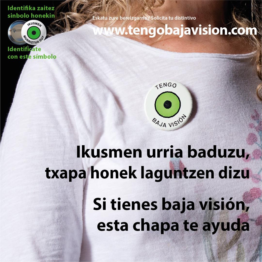 Lanzamos una campaña para proponer a las personas que tienen baja visión que usen el distintivo
